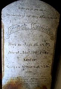 George Knowles Tombstone